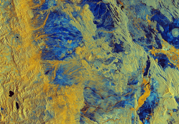 Sentinel-1B image acquired on the 5th of April 2018 over Semera in northeast Ethiopia